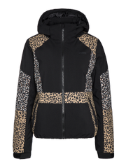 Aiko Leopard print ski jacket