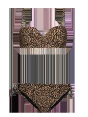 Bay bcup Leopard print bandeau bikini