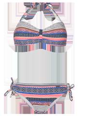 Barbera 19 Aztec print Bandeau bikini