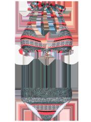 Zucty bcup Halter neck bikini