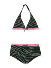 Koski 21 a jr Zebra print halter neck bikini